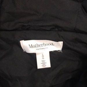 Motherhood Maternity Jackets & Coats - Motherhood Maternity Black Jacket w/ Hood - Large